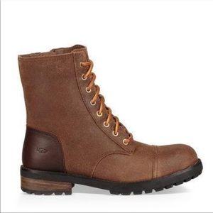 UGG Kilmer II Leather Combat Boots Brown Sz 7
